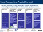 project approach i an analytical framework