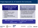 project approach ii a toolkit for the community