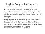 english geography education