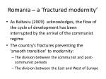 romania a fractured modernity