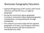 romanian geography education