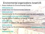 environmental organizations israel us