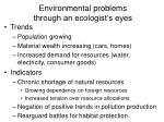 environmental problems through an ecologist s eyes