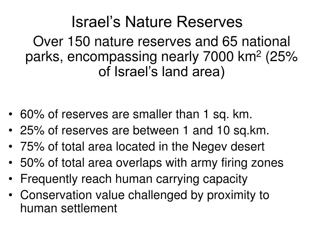 Israel's Nature Reserves