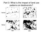 part 3 what is the impact of land use patterns on biodiversity