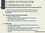earth systems for undergraduates
