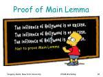 proof of main lemma1