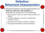 definition behavioral characteristics