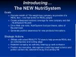 introducing the new nutrisystem