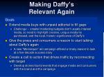 making daffy s relevant again
