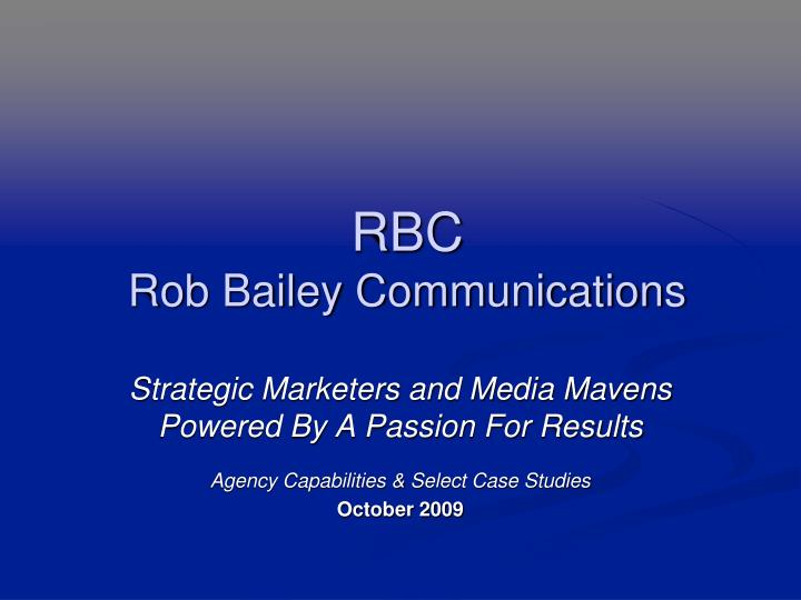 rbc rob bailey communications n.