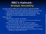 rbc s hallmark strategic storytelling
