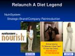 relaunch a diet legend