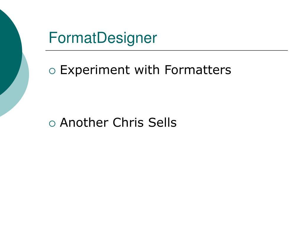 FormatDesigner