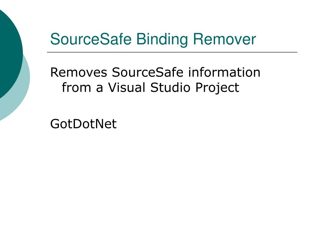 SourceSafe Binding Remover