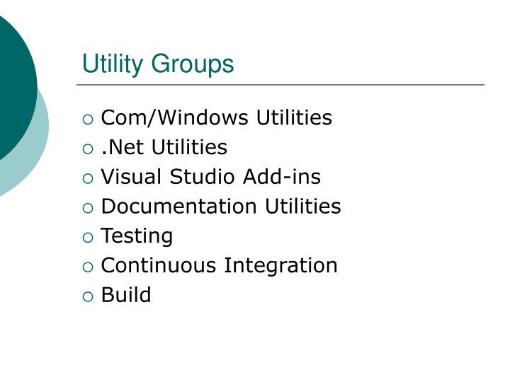 Utility groups