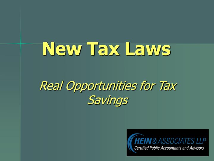 new tax laws n.