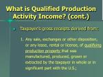 what is qualified production activity income cont