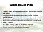 white house plan