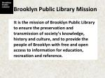 brooklyn public library mission