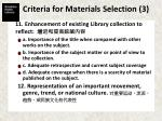 criteria for materials selection 3