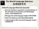 the world language selectors