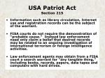 usa patriot act section 215