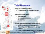 tidal resource