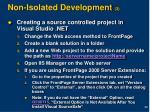 non isolated development 3