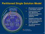 partitioned single solution model