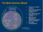 the multi solution model