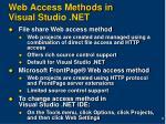 web access methods in visual studio net