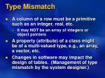 type mismatch