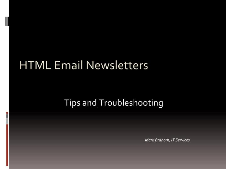 html email newsletters n.