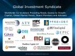 global investment syndicate
