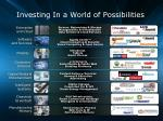 investing in a world of possibilities