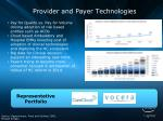 provider and payer technologies