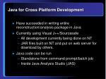 java for cross platform development