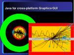 java for cross platform graphics gui