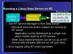 running a java data server on nt