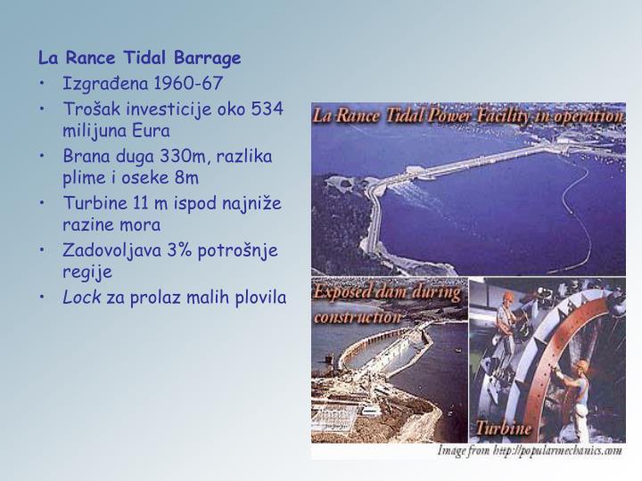 La Rance Tidal Barrage
