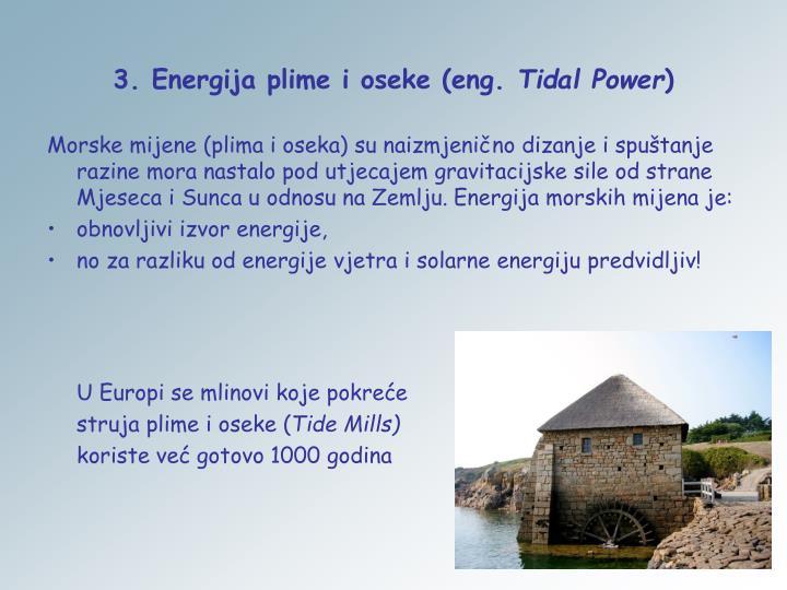 3. Energija plime i oseke (eng.