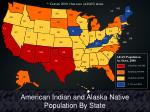 american indian and alaska native population by state