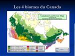 les 4 biomes du canada1