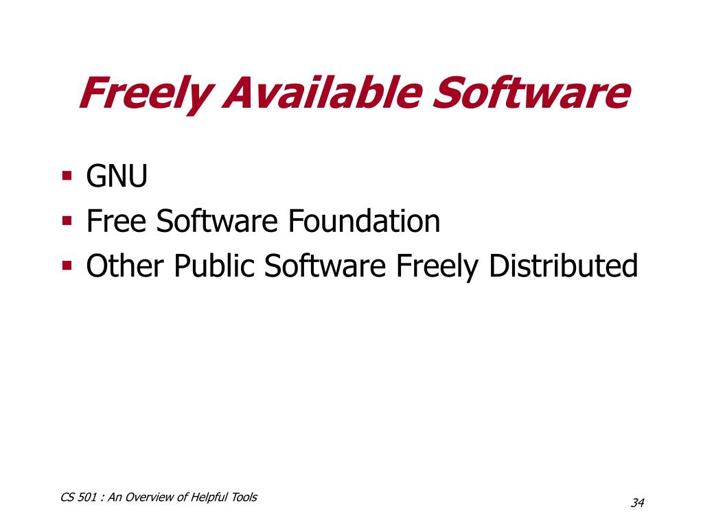 Freely Available Software