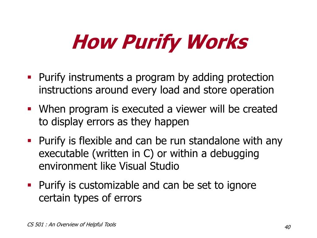 How Purify Works