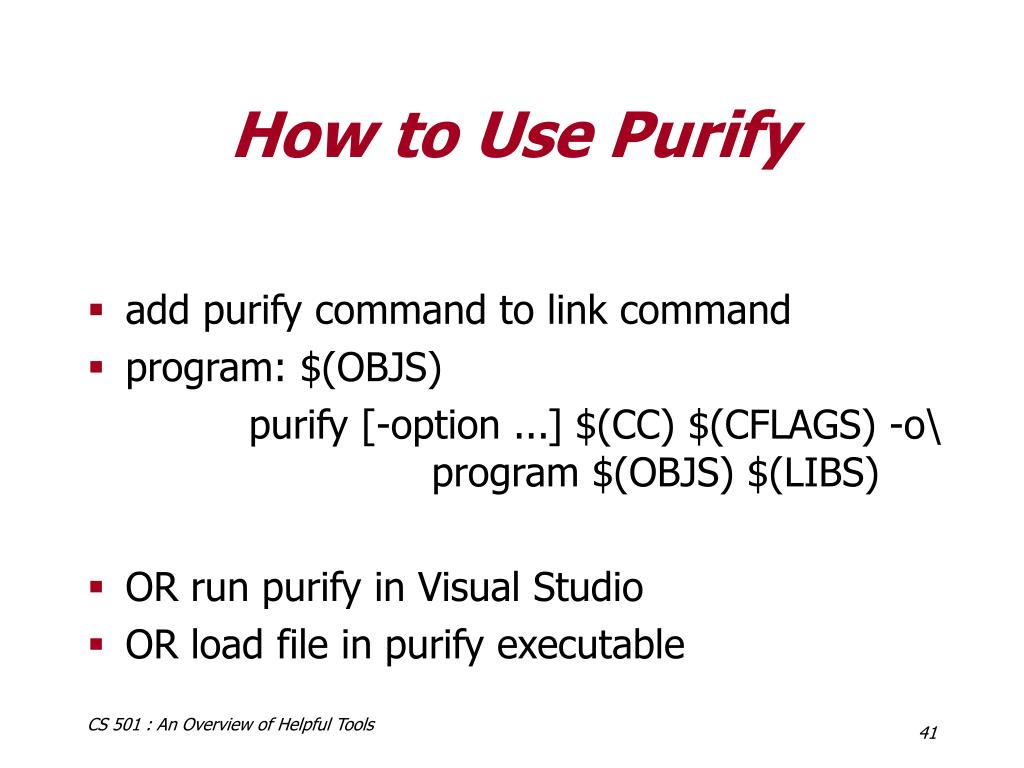 How to Use Purify