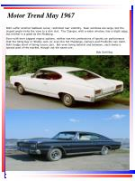 motor trend may 1967