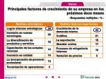 principales factores de crecimiento de su empresa en los pr ximos doce meses