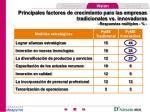 principales factores de crecimiento para las empresas tradicionales vs innovadoras